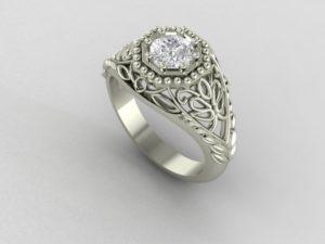 Vintage Beaded Ring