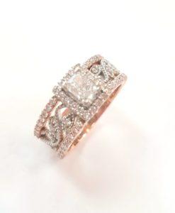 Two-Tone Halo Wedding Ring