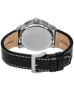 BM8471 01E 2 - Citizen Eco-Drive Military Black Leather Strap Watch 42mm