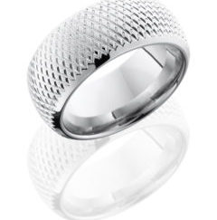 CC10DBKNURL Polish 240x243 - Cobalt Chrome 10mm Domed Band with Knurl Pattern