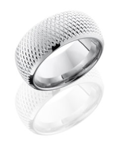 CC10DBKNURL Polish - Cobalt Chrome 10mm Domed Band with Knurl Pattern