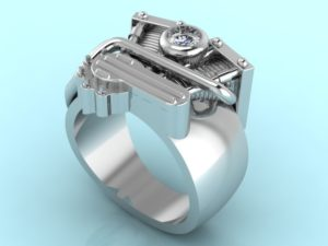 Engine Ring - Custom Design Portfolio