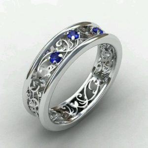 Sapphire filigree band Copy - Custom Design Portfolio