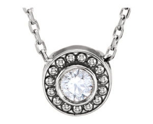 Stull1 300x243 - 14K White Gold Round Beaded Slide Pendant