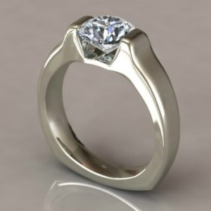 Tension set engagement ring Copy - Custom Design Portfolio
