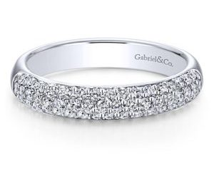 gabriel 1 300x243 - 14k White Gold Round Straight Wedding Band