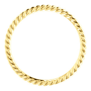 sts51695tf - 14k Yellow Gold Rope Band