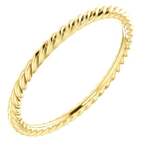 sts51695top - 14k Yellow Gold Rope Band