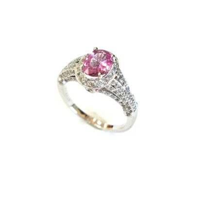 160 100083 1 416x416 - Vintage Pink Sapphire Diamond Ring