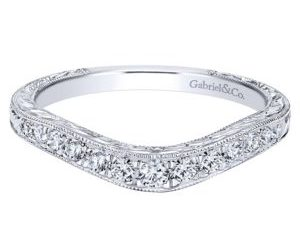 AN10966W44JJ 1 300x243 - Vintage 14K White Gold Round Curved Anniversary Band