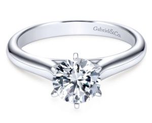 ER6623W4JJJ 1 300x243 - 14K White Gold Round Solitaire Engagement Ring