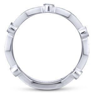 LR4749W45JJ 2 - 14K White Gold Stackable Ladies' Ring