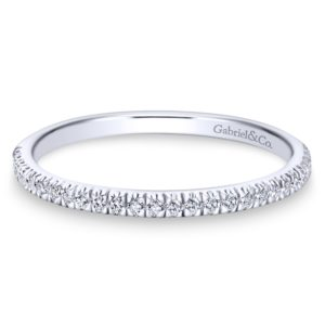 WB7224W44JJ 1 - 14K White Gold Round Straight Wedding Band