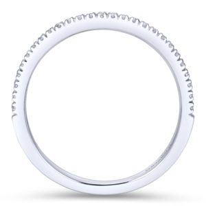 WB7224W44JJ 2 - 14K White Gold Round Straight Wedding Band