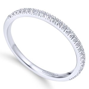 WB7224W44JJ 3 - 14K White Gold Round Straight Wedding Band