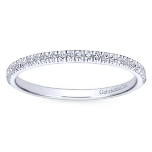 WB7224W44JJ 5 - 14K White Gold Round Straight Wedding Band