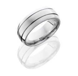 CC8D2.5 250x243 - Cobalt Chrome 8mm Domed Band with Two .5mm Grooves