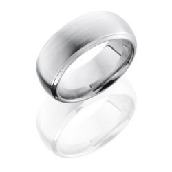 CC8DB - Cobalt Chrome 8mm Domed Band with Beveled Edges