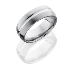 CC8DC 250x243 - Cobalt Chrome 8mm Domed Band with Concave Center