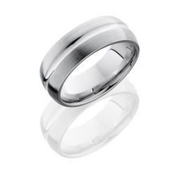 CC8DC - Cobalt Chrome 8mm Domed Band with Concave Center