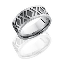 CC9FTWOEQUIS 250x243 - Cobalt Chrome 9mm Concave Band with Rounded Edges and Laser Carved Celtic Pattern