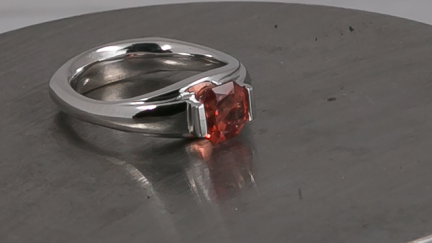 Sunstone Tension-Set Ring