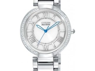 EM0100 55A 324x243 - Citizen Eco-Drive Ladies D'Orsay Diamond Watch - White/Silver Dial