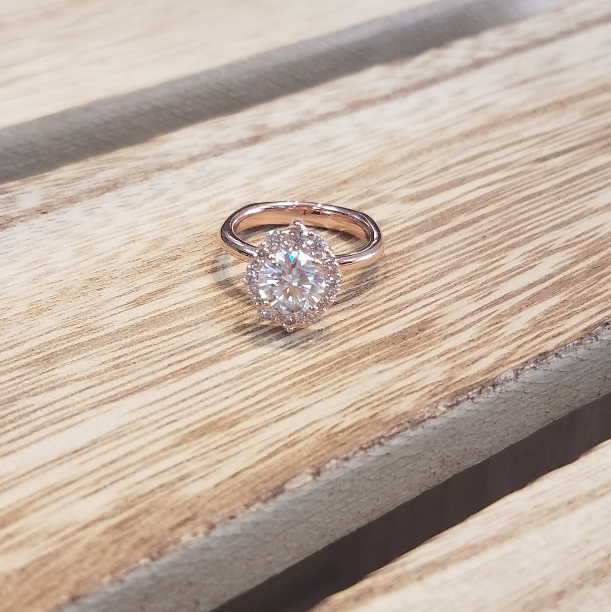 Rose-Gold Engagement Ring