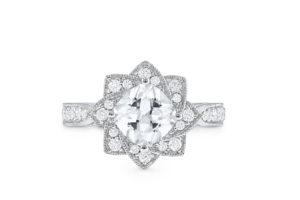 S10183 - Flower Engagement Ring