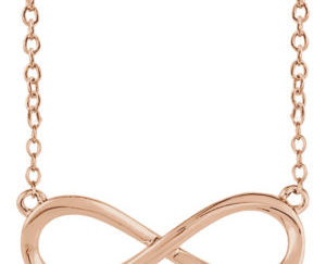 sts85947r 300x243 - Gold Infinity Necklace