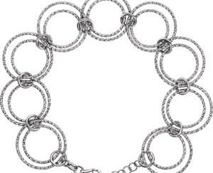 "stsch882 300x243 - Sterling Silver Adjustable Circle 8"" Bracelet"