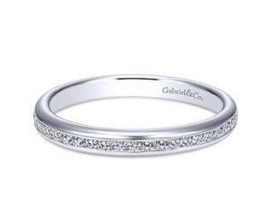 Gabriel 14k White Gold Contemporary Straight Wedding BandWB7229W44JJ 11 300x243 - 14k White Gold Round Bypass Diamond Engagement Ring