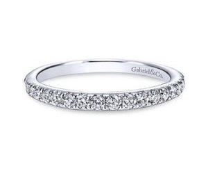 Gabriel 14k White Gold Contemporary Straight Wedding BandWB8259W44JJ 11 300x243 - Vintage 14k White Gold Round Straight Diamond Wedding Band