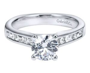 Gabriel 14k White Gold Round Straight Engagement RingER3965W44JJ 11 300x243 - 14k White Gold Round Straight Diamond Engagement Ring