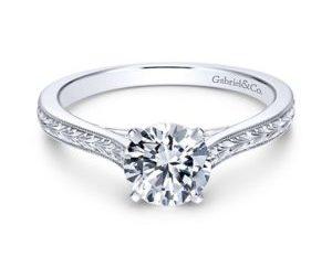 Gabriel Alma 14k White Gold Round Straight Engagement RingER7222W4JJJ 11 300x243 - Vintage 14k White Gold Round Straight Engagement Ring