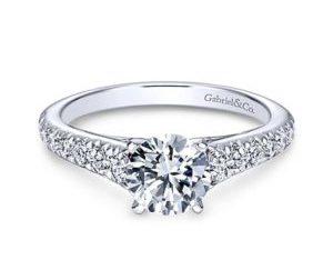 Gabriel Bridget 14k White Gold Round Straight Engagement RingER8259W44JJ 11 300x243 - 14k White Gold Round Straight Diamond Engagement Ring