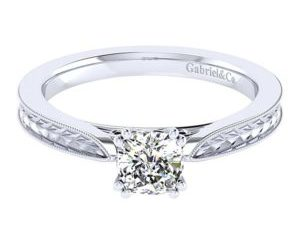 Gabriel Cora 14k White Gold Cushion Cut Straight Engagement RingER7223C4W4JJJ 11 300x243 - 14k White Gold Cushion Cut Straight Engagement Ring