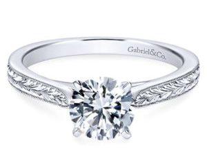 Gabriel Cora 14k White Gold Round Solitaire Engagement RingER7223W4JJJ 11 300x243 - Vintage 14k White Gold Round Solitaire Engagement Ring
