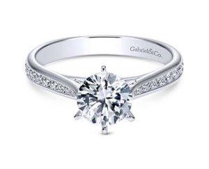 Gabriel Danielle 14k White Gold Round Straight Engagement RingER7229W44JJ 11 300x243 - 14k White Gold Round Straight Diamond Engagement Ring