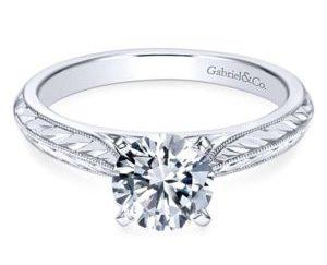 Gabriel Della 14k White Gold Round Solitaire Engagement RingER6707W4JJJ 11 300x243 - Vintage 14k White Gold Round Solitaire Engagement Ring