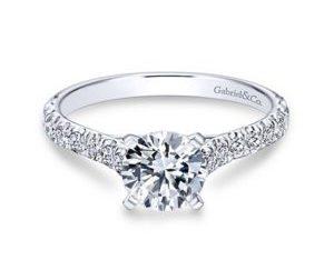 Gabriel Erica 14k White Gold Round Straight Engagement RingER7225W44JJ 11 300x243 - Round Straight Diamond Engagement Ring