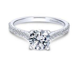 Gabriel Joanna 14k White Gold Round Straight Engagement RingER7224W44JJ 11 300x243 - 14k White Gold Round Straight Diamond Engagement Ring