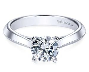 Gabriel Sasha 14k White Gold Round Solitaire Engagement RingER8296W4JJJ 11 1 300x243 - Round Solitaire Engagement Ring