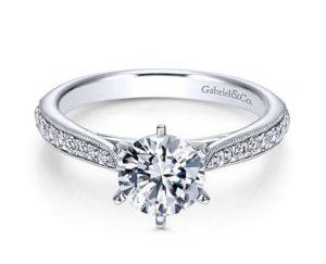 Gabriel Sawyer 14k White Gold Round Straight Engagement RingER6687W44JJ 11 300x243 - 14k White Gold Round Straight Diamond Engagement Ring
