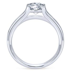 Gabriel Selah 14k White Gold Round Solitaire Engagement RingER7516W4JJJ 21 - 14k Round Solitaire Engagement Ring