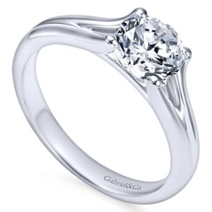 Gabriel Selah 14k White Gold Round Solitaire Engagement RingER7516W4JJJ 31 - 14k Round Solitaire Engagement Ring