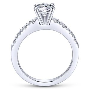 Gabriel Wyatt 14k White Gold Round Straight Engagement RingER3950W44JJ 21 1 - 14k White Gold Round Straight Diamond Engagement Ring