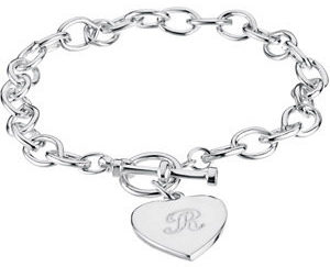 stsbrc276 300x243 - Cable Toggle Bracelet 7mm with Heart Charm