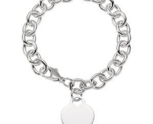 """stsch341 300x243 - Sterling Silver Heart Charm 7.5"""" Bracelet"""