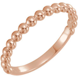50929rose - Beaded Stackable Band